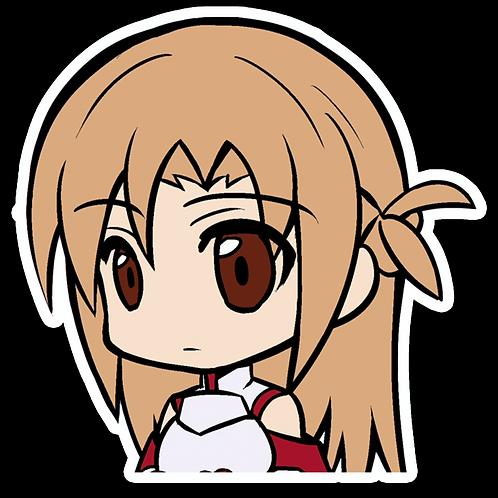 Anime Peeking Sticker Car Window TRUCK Decal PKN117 Sword Art Online Asuna Yuuki