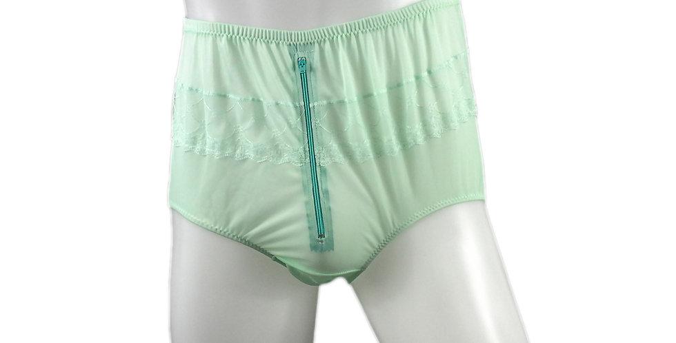 JYH03B04 fair green Handmade Nylon Panties Women Men Lace Knickers Briefs
