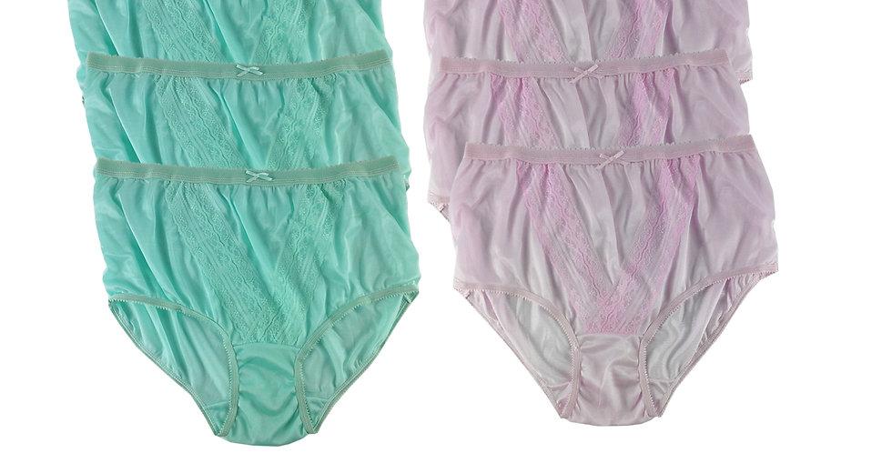 NLSG07 Lots 6 pcs Wholesale New Panties Granny Briefs Nylon Men Women