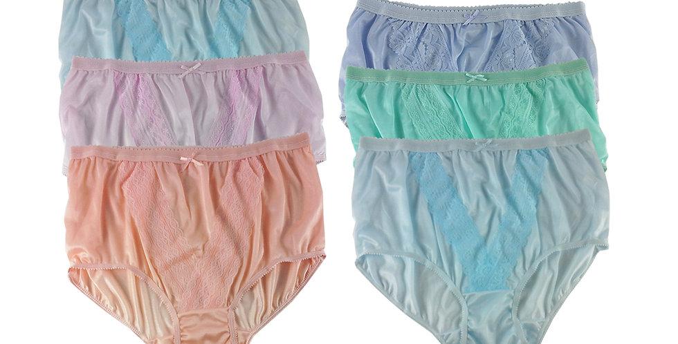 NLSG138 Lots 6 pcs Wholesale New Panties Granny Briefs Nylon Men Women
