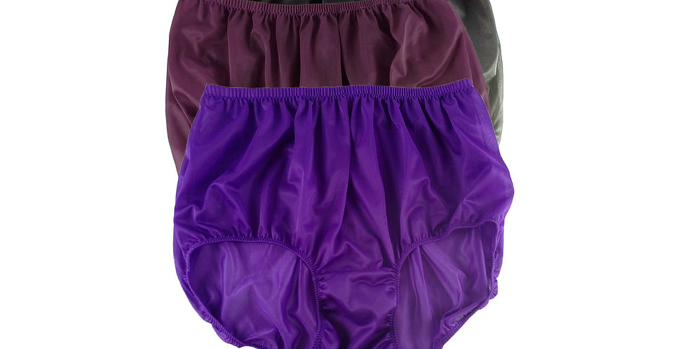 A97 Lots 3 pcs Wholesale Women New Panties Granny Briefs Nylon Knickers