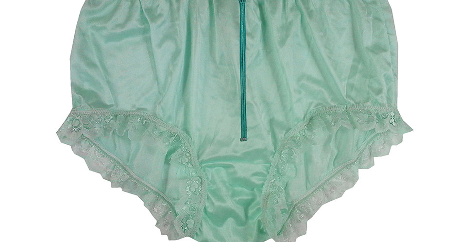 NYH19D03 Green Zipper Handmade New Panties Briefs Lace Sheer Nylon Men Women