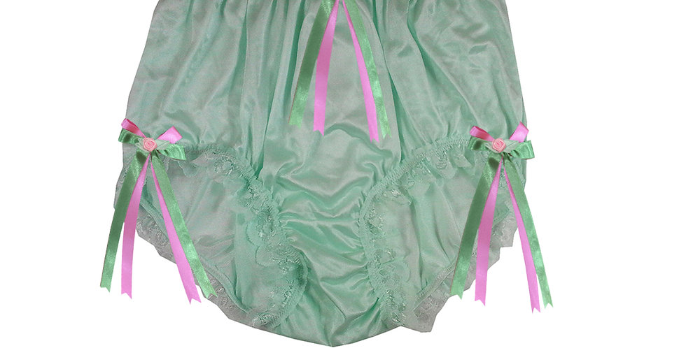 NQH18D05 Green New Panties Granny Briefs Nylon Handmade Lace Men