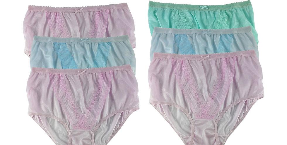 NLSG58 Lots 6 pcs Wholesale New Panties Granny Briefs Nylon Men Women