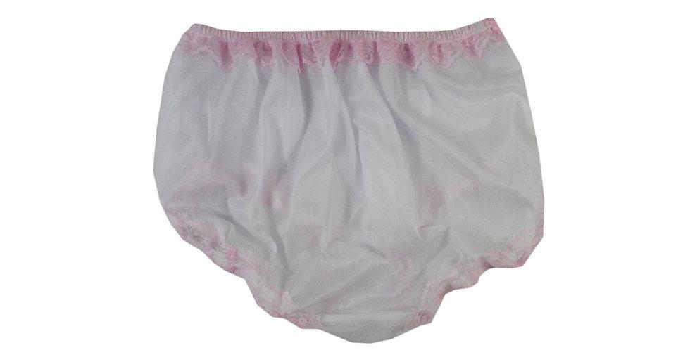 NNH06D03 white Handmade Panties Lace Women Men Briefs Nylon Knickers