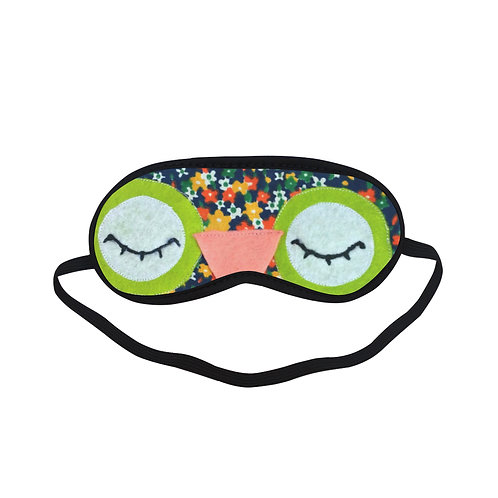 BTEM286 Cartoon Owl Eye Printed Sleeping Mask