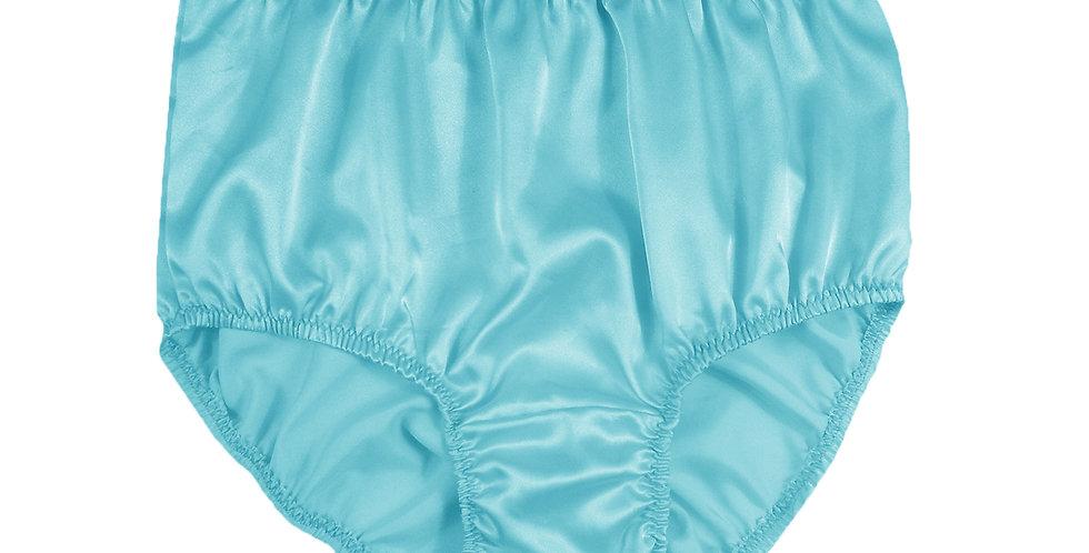STP09 Mint Blue New Satin Panties Women Men Briefs Knickers