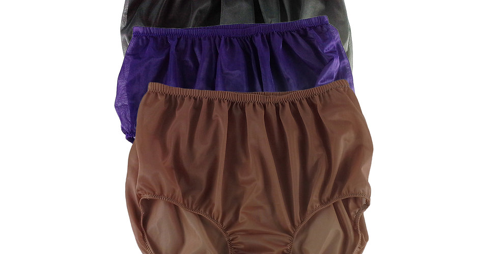 A7 Lots 3 pcs Wholesale Women New Panties Granny Briefs Nylon Knickers