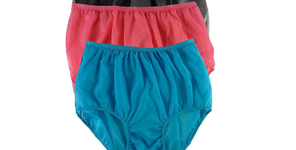 A79 Lots 3 pcs Wholesale Women New Panties Granny Briefs Nylon Knickers