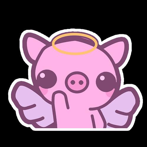 Peeker Anime Peeking Sticker Car Window Decal PK484 Zashikibuta Pig