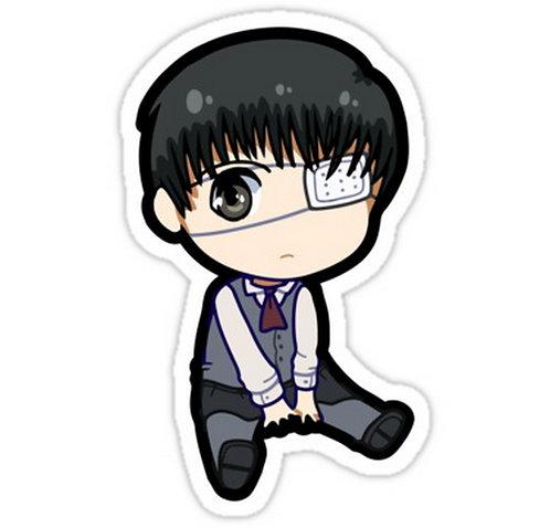 SRBB0697 Kaneki Ken (Tokyo Ghoul) anime sticker