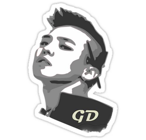Big Bang, G-Dragon SSTK039 K-Pop Music Brand Car Window Decal Sticker