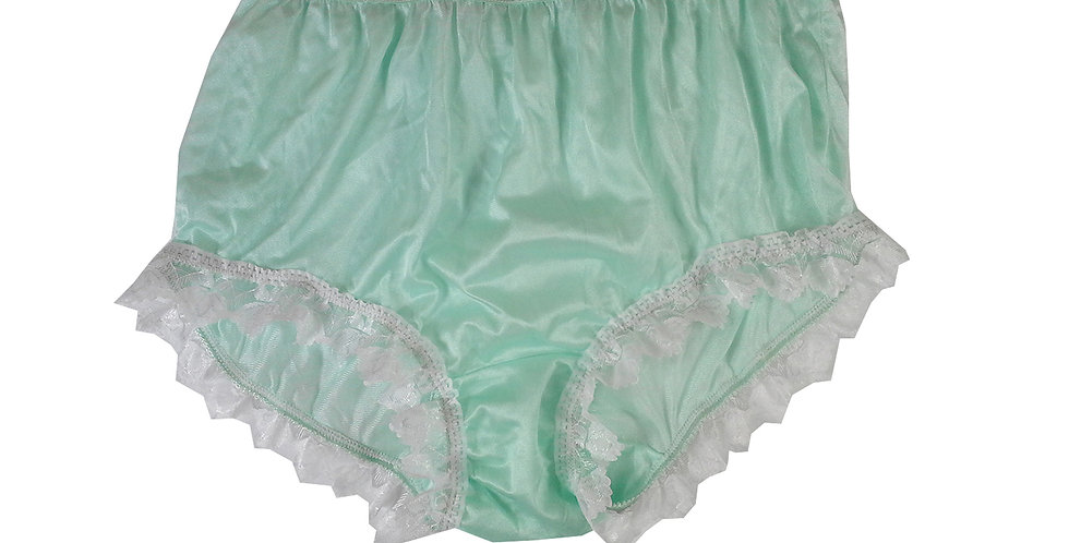 NYH24D03 Green Handmade New Panties Briefs Lace Sheer Nylon Men Women