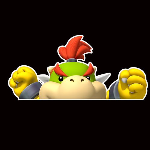 Anime Peeker Sticker Car Window Decals PK035 Bowser Junior Super Mario