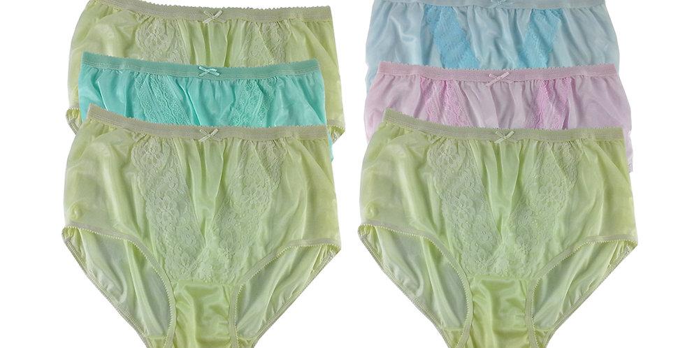 NLSG38 Lots 6 pcs Wholesale New Panties Granny Briefs Nylon Men Women