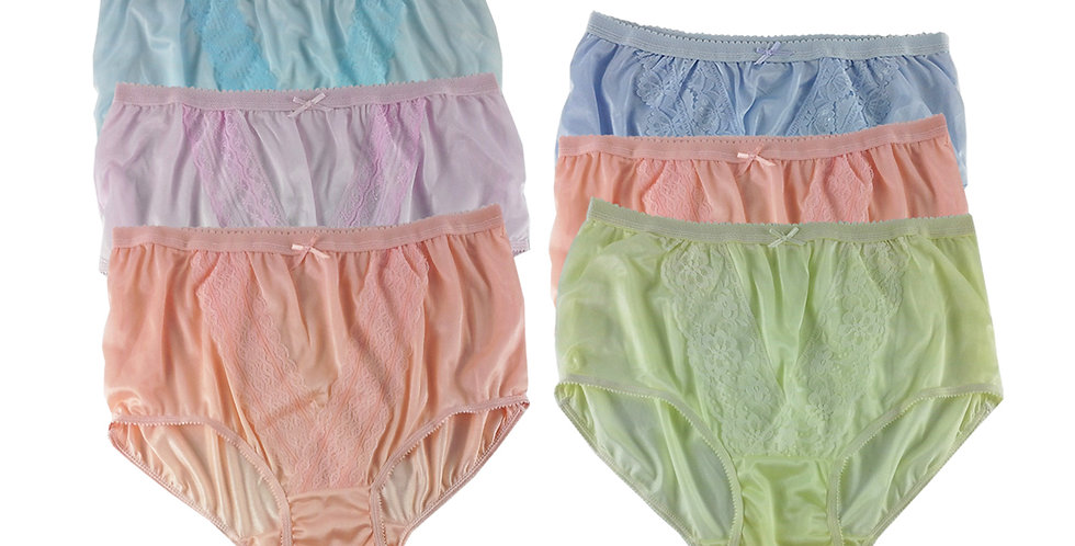 NLSG129 Lots 6 pcs Wholesale New Panties Granny Briefs Nylon Men Women