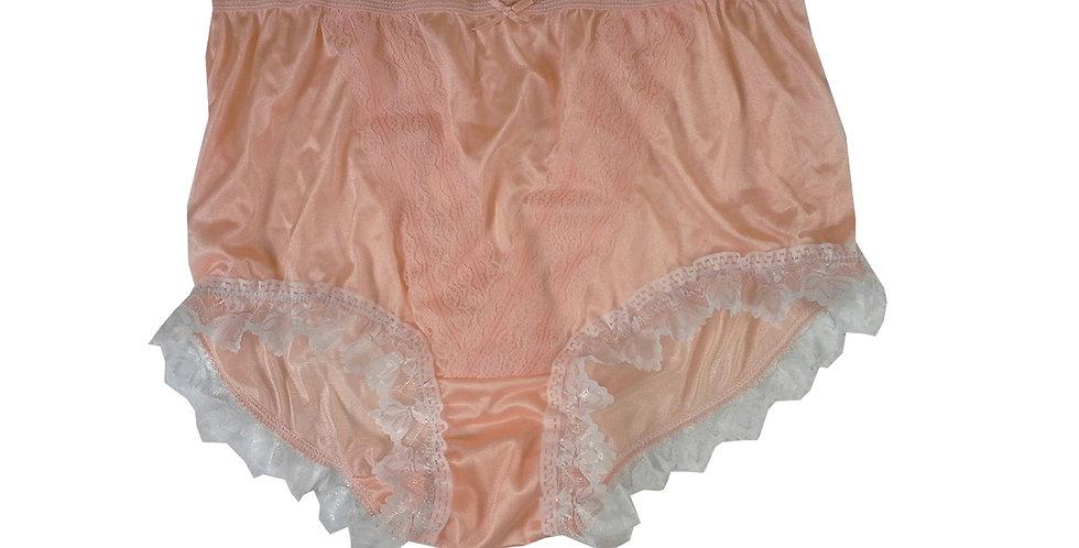 NLH24D04 Orange New Panties Granny Lace Briefs Nylon Handmade  Men