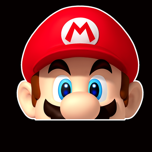 Anime Peeker Sticker Car Window Decals PK015 Super Mario