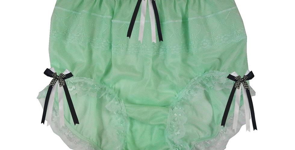 JYH18D10 Fair Green Handmade Nylon Panties Women Men Lace Knickers Briefs