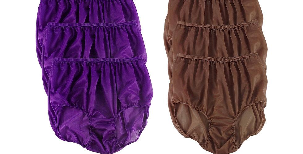 NSD71Lots 6 pcs Wholesale Women New Panties Granny Briefs Nylon Lingerie