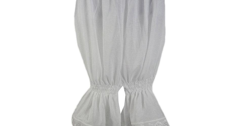 PCPH03P white Cotton Pettipants Women Slips Lace Lingerie Underwear