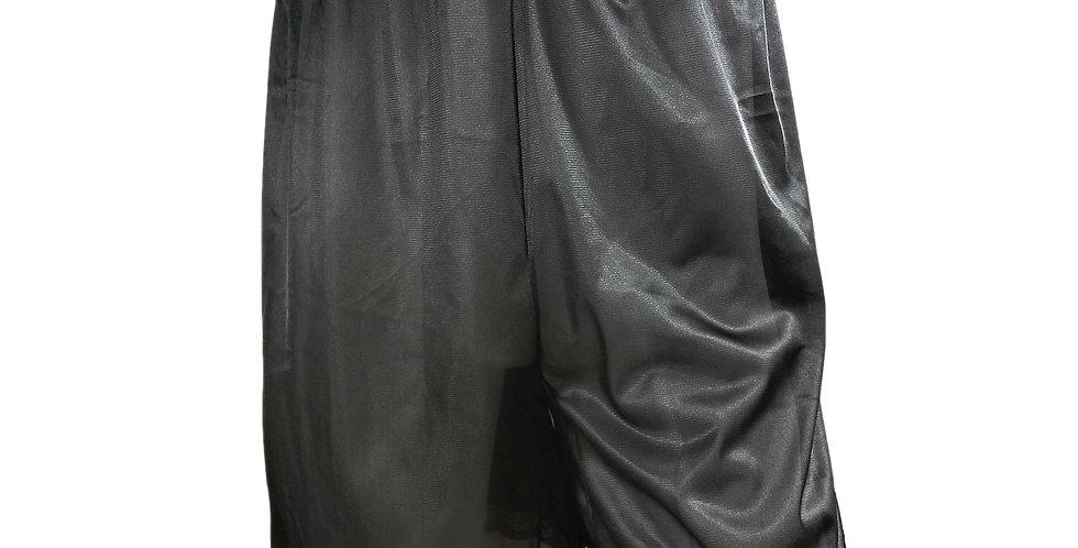 PTB03 black Silky Nylon Pettipants Women Men Slips Lace Underwear