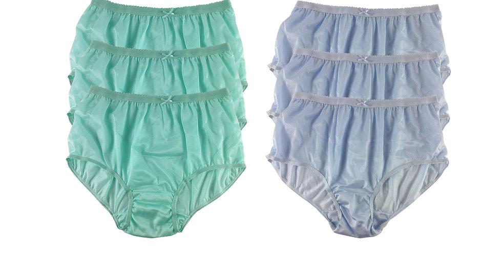 NYSE06 Lots 6 pcs New Panties Wholesale Briefs Silky Nylon Men Women