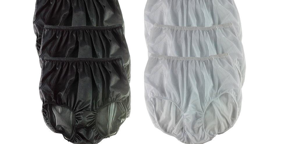 NSD13Lots 6 pcs Wholesale Women New Panties Granny Briefs Nylon Lingerie