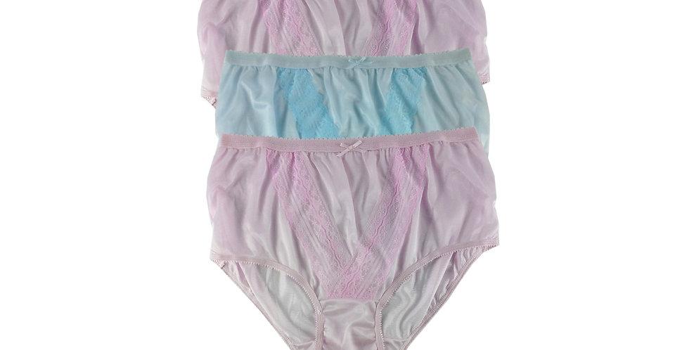 NLTH18 Lots 3 pcs Wholesale Panties Granny Lace Briefs Nylon Men Woman