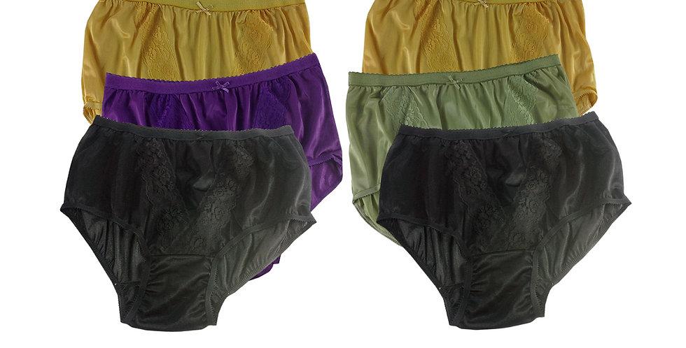 KJSJ26 Lots 6 pcs Wholesale New Panties Granny Briefs Nylon Men Women