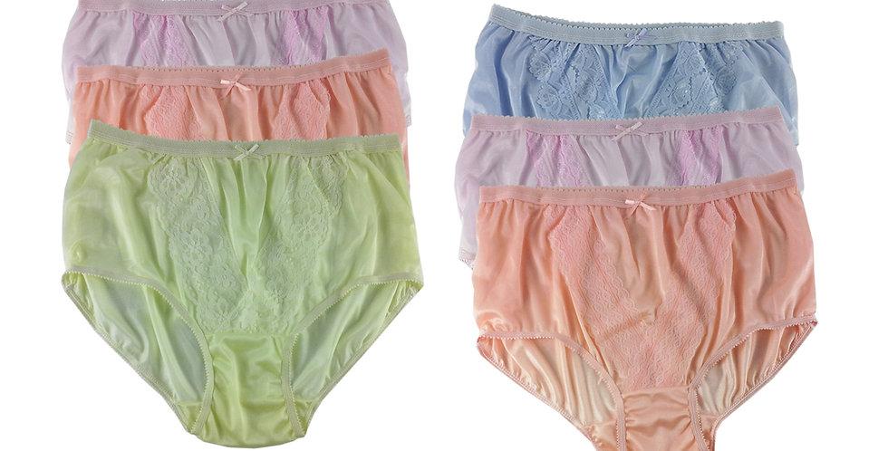 NLSG92 Lots 6 pcs Wholesale New Panties Granny Briefs Nylon Men Women