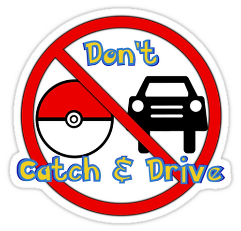 Don't Catch and Drive SPKMR076 Cartoon Anime Car Window Decal Sticker