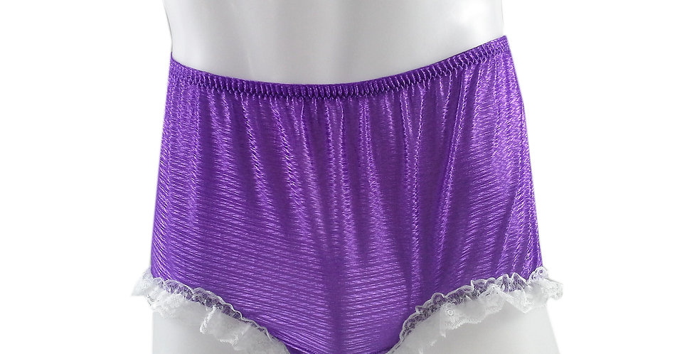 SFH02D09 Light Purple Shiny Nylon New Panties Women Men Handade Briefs