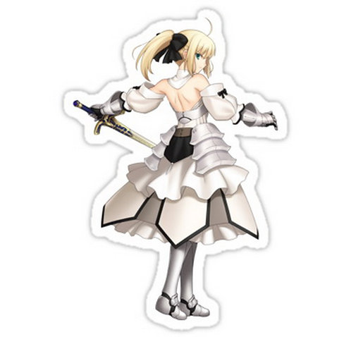 SRBB0617 fate zero stay night saber  anime sticker