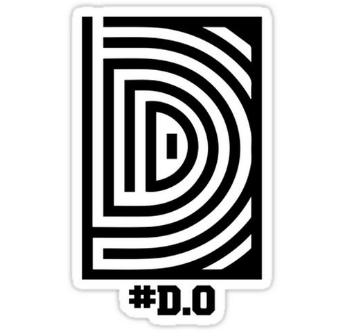 EXO D.O. 'Overdose' Logo SSTK099 K-Pop Music Brand Car Window Decal