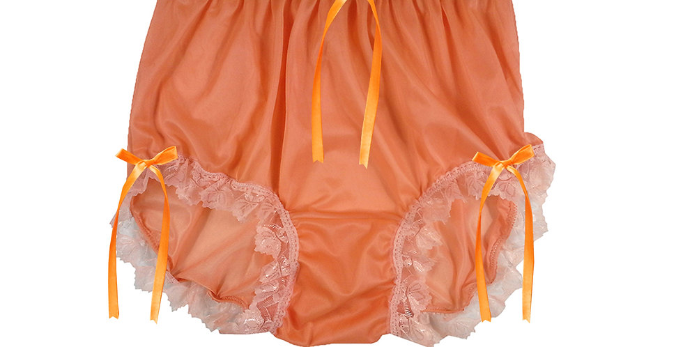 NNH18D14 Orange Handmade Panties Lace Women Men Briefs Nylon Knickers
