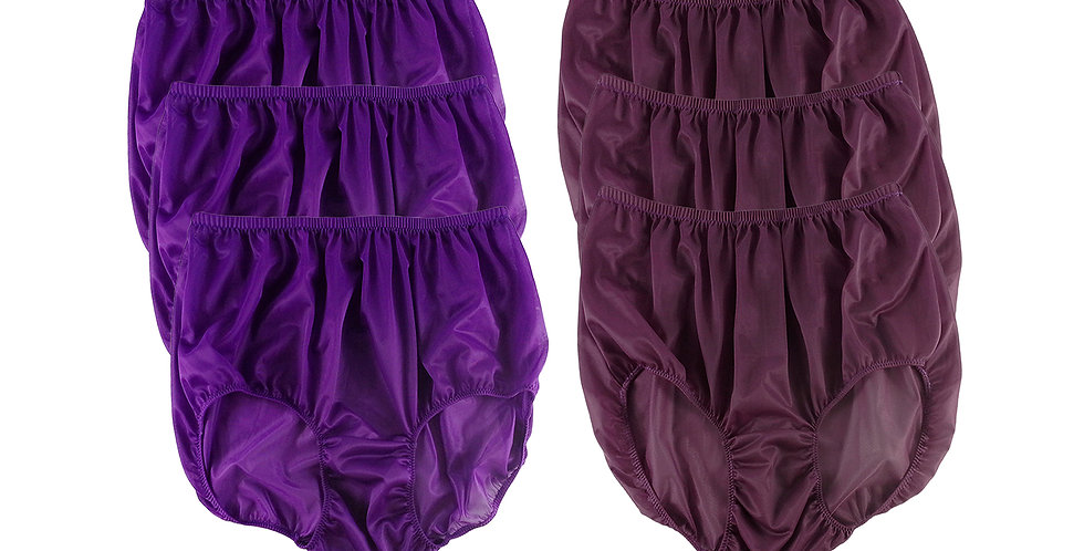 NSD74Lots 6 pcs Wholesale Women New Panties Granny Briefs Nylon Lingerie