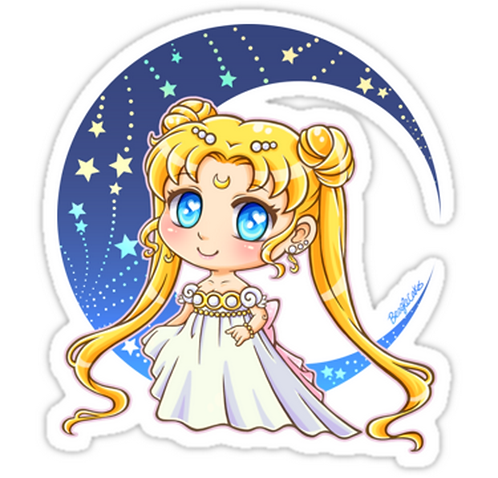 Sailor Moon  Princess Serenity SSLM019 Cartoon Anime Car Window Decal Sticker