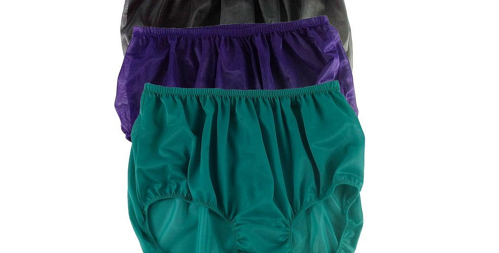 A15 Lots 3 pcs Wholesale Women New Panties Granny Briefs Nylon Knickers
