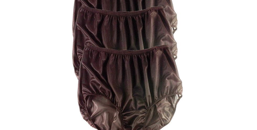 B2 DEEP BROWN Lots 3 pcs Wholesale Women New Panties Granny Briefs Nylon