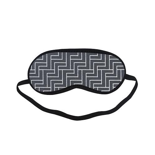 PTEM412 black Geometric Eye Printed Sleeping Mas