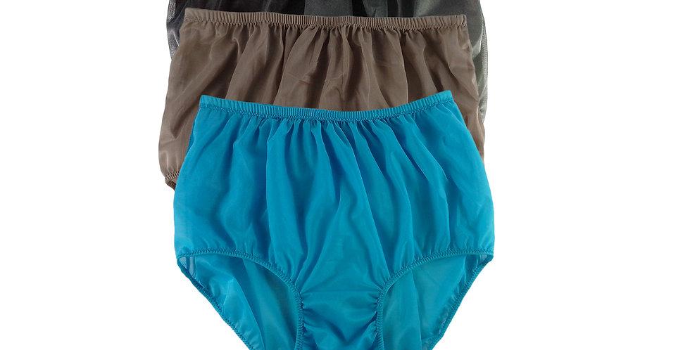 A74 Lots 3 pcs Wholesale Women New Panties Granny Briefs Nylon Knickers
