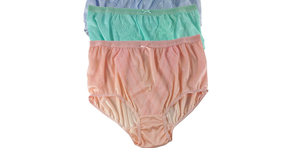 NLTH03 Lots 3 pcs Wholesale Panties Granny Lace Briefs Nylon Men Woman