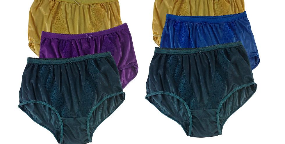 KJSJ37 Lots 6 pcs Wholesale New Panties Granny Briefs Nylon Men Women