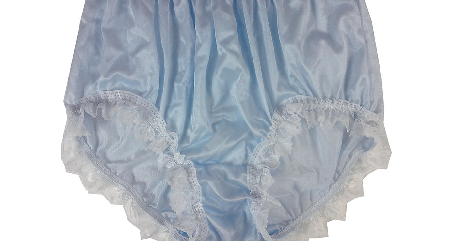 NQH24D01 Blue New Panties Granny Briefs Nylon Handmade Lace Men