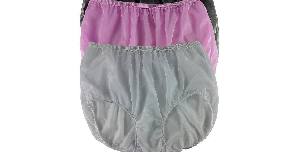 A129 Lots 3 pcs Wholesale Women New Panties Granny Briefs Nylon Knickers