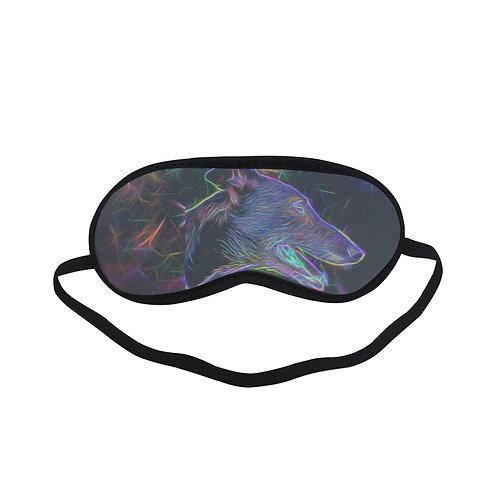 BTEM135 Black Light Dog Eye Printed Sleeping Mask