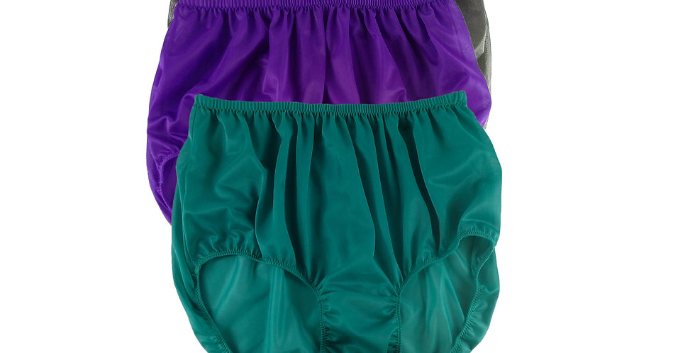 A66 Lots 3 pcs Wholesale Women New Panties Granny Briefs Nylon Knickers