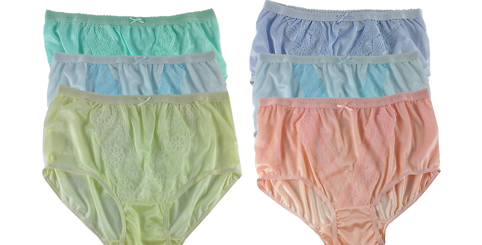 NLSG121 Lots 6 pcs Wholesale New Panties Granny Briefs Nylon Men Women