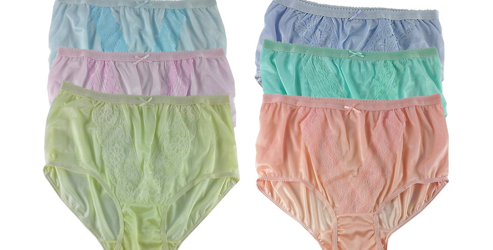 NLSG111 Lots 6 pcs Wholesale New Panties Granny Briefs Nylon Men Women